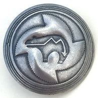 "Bear Spirit Button 7/8""  #SW-61 Nickel Silver SALE"