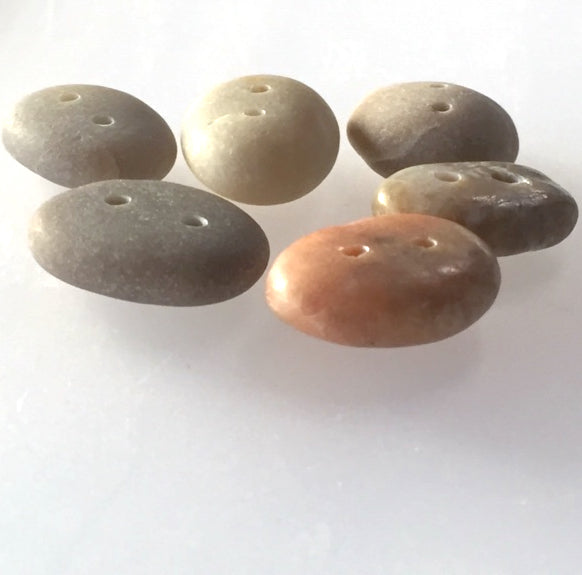 "Beach Stone Buttons, Six Assorted Colors 1""  # BCH-34"