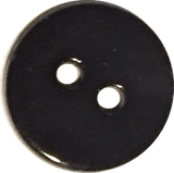 "Black Shiny 1/2"" Agoya Shell Button, Pack of 8,  #1227"