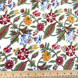 Fantasy Floral Cotton Border Blockprint, By the Yard # 826