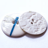 "Dragonfly Porcelain Button 1-1/8"" 2-hole, Handmade"