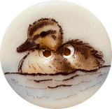 Duckling Porcelain Button 7/8""
