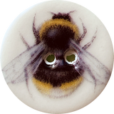 Bumble Bee Porcelain Button, 5/8""