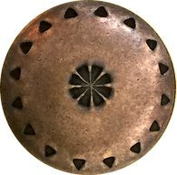 Copper Brass South Western Button shank back Concho