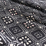 "Indigo / White ""Summer Night"" Tiny Heart Porcelain Button, 1/2"""