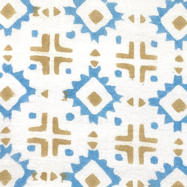 Southwest Diamonds Block Print Cotton by the Yard #718