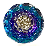 "Purple Indigo Infinity Flower Czech Glass 13mm  9/16""  # CZ 290"