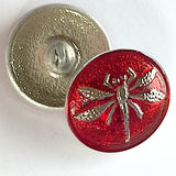 "Bright Red Dragonfly Czech Glass 18mm / 3/4""  # CZ 042-1"