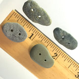 Beach Stone Buttons, 4 Gray,  # BCH-47