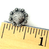 "Tiny Ghost Ranch Silver Screw Back Concho 1/2""  #SW-106"