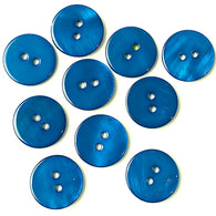 "5/8"" Navy River Shell 2-hole Button, 8 for $8.00   #1778"