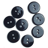 "Black River Shell 5/8"" 2-hole Button, Pack of 8 for $8.00 #1791"