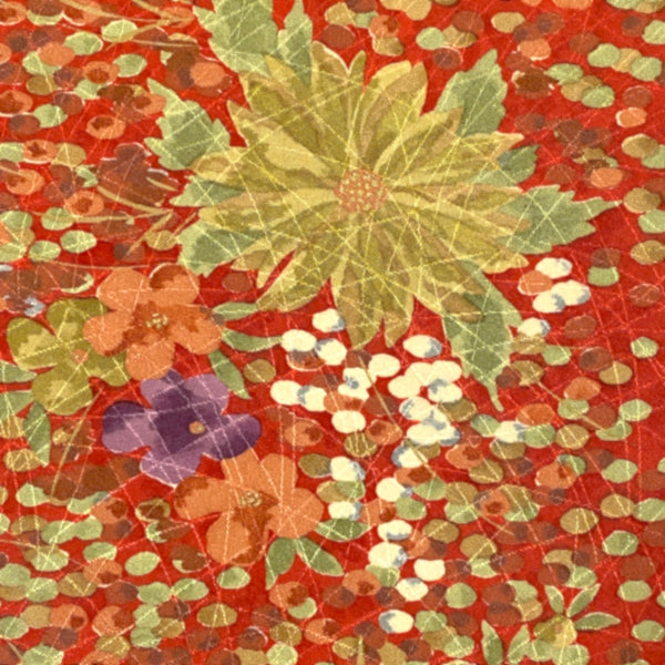 Indigo Hand Block Print Cotton Voile with Near-White Flowers, 3 yard piece #JB43