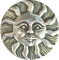 "Eleven Sun Rays Pewter Button 15/16"" USA Made"