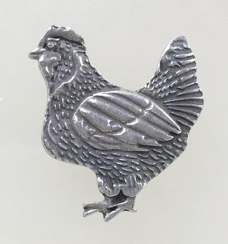 Chicken Button, Pewter