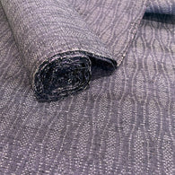 "Thousand Cherry Blossoms Black/White Kimono Chirimen Silk Pieces 13"" x 38""  #4101"