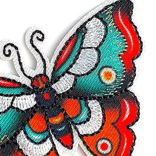 "Butterfly Bright Tattoo Colors 2-1/4"" Iron-On Patch/Applique"