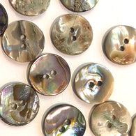 "5/8"" Abalone Mixed Naturals Round 2-hole, Pack of 18 for $4.50"