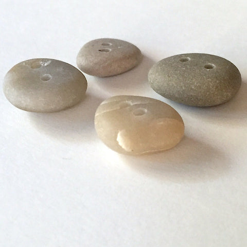 Beach Stone Buttons, 4 Light Neutrals    # BCH-72