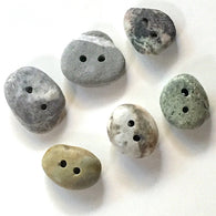 Beach Stone Buttons, 6 Mixed  # BCH-73