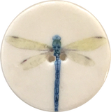 Dragonfly by Kate Holliday - Large Porcelain Button