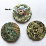 "Blue Green Large Mexican Abalone, 1-1/8"" Shell Button SALE"
