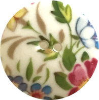 English Garden Medium Porcelain Button by Kate Holliday