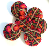 "Tapestry-Covered Large Buttons, Set of Six  1-1/4""  #FC-25"