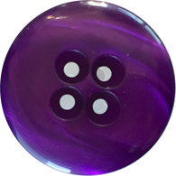 "Purple Designer 7/8"" Coat Button, 4-holes, ""Ocean"""