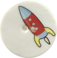 Porcelain Rocket Button 1-1/8""