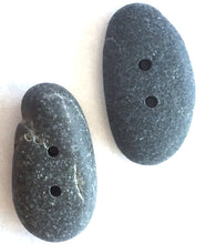 Beach Stone Buttons, Set of 2 Dark Grey BCH-7