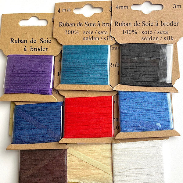 "CLOSEOUT 1/8"" Silk Ribbon, Box of 11 Mixed Colors for 30% OFF"
