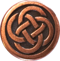 Celtic Knot Copper Metal Button 5/8""