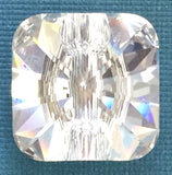 Swarovski Button, 14mm Rivoli Square, Crystal Color LAST ONE