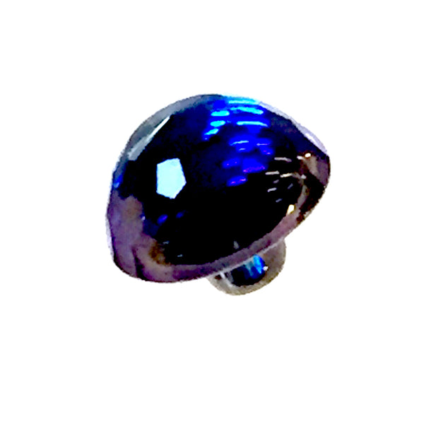 Swarovski Button, Bermuda Blue Half-Dome 3/8""