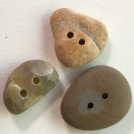Beach Stone Buttons, Set of 3 Mixed Colors BCH-14