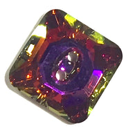 "Swarovski Button, Crystal Volcano, 9/16"" 14mm Square"