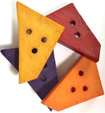 Giant Trapezoid Button with 3 holes, in 10 colors