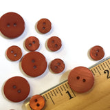"3/8"" Copper River Shell  2-hole Button, TEN for $8.00  #2242"