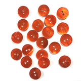 "1/2"" Orange Pearl Shell 2-hole Button, 6 for $5.10   #117"