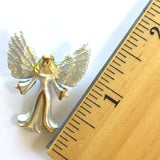 Angel Button with Wide-Open Wings by Susan Clarke 1-1/4""