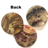 "1-1/2"" Darkest Brown Large Shiny Shell 2-hole Button 38mm"