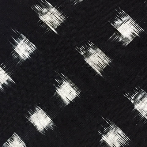 Black/White Cotton Cubism Ikat from India, by the Yard