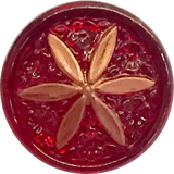 "Red Ruby + Copper Star Flower Button, 11/16""  #CZ 010"