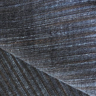 Steel Blue / Brown Yarn-Dyed Rustic Stripes Cotton Woven, #CHL-130