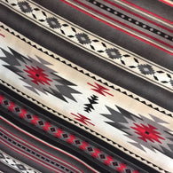 "SALE Southwest ""Indian Blanket"" Cotton Print Red/Gray, Soft Quilting Cotton, Per Yard"