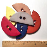 Large Half Circle Button in 5 colors 2""