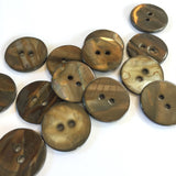 "Bronzed Shiny Taupe Brown Shell 7/8""  $5.50 for 6"