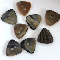 "Chocolate Triangle Brown Shell Buttons, 1/2"" (Small)  8 for $5.25"