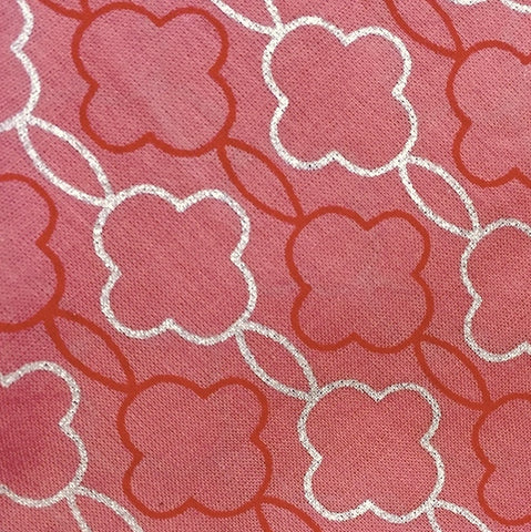 SALE Pink Cotton Voile Tea Rose Geometric Print, LAST 2 yard PIECE  #870